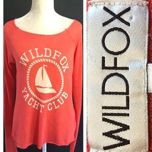 WILDFOX Yacht Club lightweight top. Med